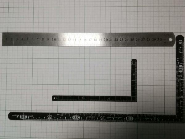 レザークラフトで使用する定規