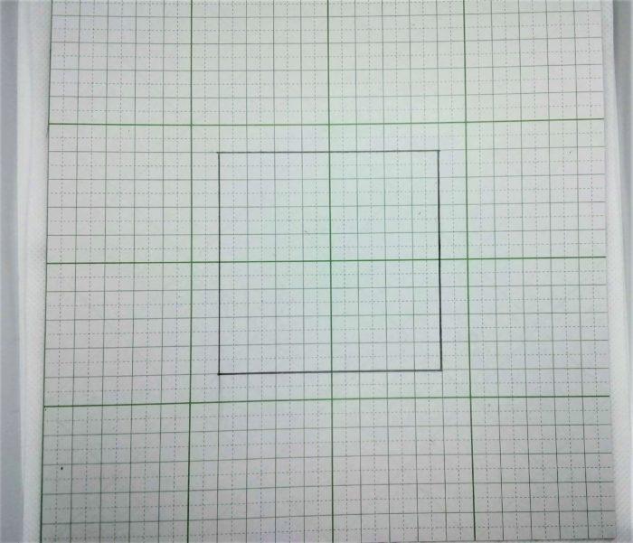 レザークラフトで型紙を作る手順1