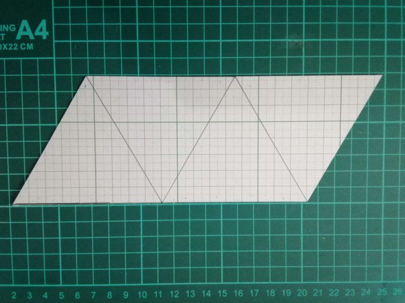 三角コインケースの型紙