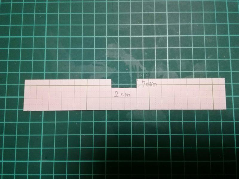 キーホルダーの型紙