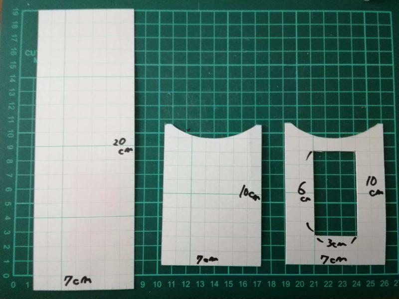 シンプルなパスケースの型紙