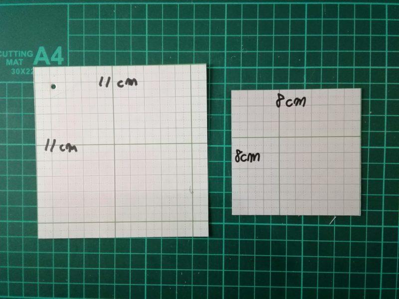 四角いコインケースの型紙