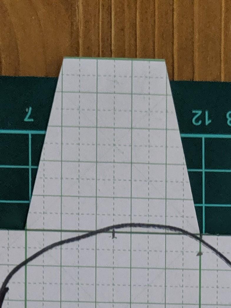 ペンケースの型紙 側面部